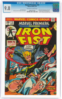 Marvel Premiere #15 Iron Fist (Marvel, 1974) CGC NM/MT 9.8 Off-white to white pages