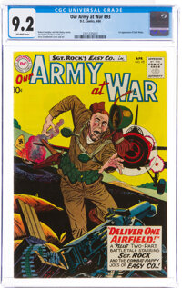 Our Army at War #93 (DC, 1960) CGC NM- 9.2 Off-white pages