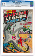 Silver Age (1956-1969):Superhero, The Brave and the Bold #28 Justice League of America (DC, 1960) CGC VF 8.0 Cream to off-white pages....