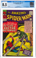 Silver Age (1956-1969):Superhero, The Amazing Spider-Man #11 (Marvel, 1964) CGC VF+ 8.5 Off-white to white pages....