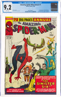 The Amazing Spider-Man Annual #1 (Marvel, 1964) CGC NM- 9.2 White pages