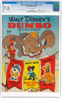 Four Color #17 Dumbo (Dell, 1941) CGC FN/VF 7.0 Off-white pages
