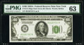 Fr. 2151-B $100 1928A Dark Green Seal Federal Reserve Note. PMG Choice Uncirculated 63
