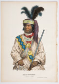 Books:Prints & Leaves, Billy-Bowlegs. A Seminole Chief. Hand-colored lithographic print. No place: Rice Rutter & Co., no date [circa early ...