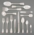 Silver & Vertu, A One Hundred and Seventy-Three-Piece James Robinson Inc. Fiddle, Thread & Shell Pattern Silver Flatware Service f... (Total: 173 Items)