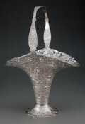 Silver & Vertu, An E.G. Webster & Son Silver-Plated Bride's Basket, late 19th-early 20th century. Marks: W&G, (star), (dog's head), (fle...