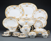 A One Hundred and Twenty-Three-Piece Minton Partial Gilt and Enameled Porcelain Dinner Service for Twelve, second half o...