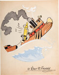 """Animation Art:Production Drawing, """"Tugboat"""" 52nd Harbor Craft Crew"""" Insignia Original Art by Hank Porter with Related Correspondence (Walt Disney, 1944-45). ... (Total: 5 Items)"""