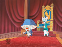 """Pinky and the Brain """"Napoleon Brainaparte"""" Pinky and Brain Production Cel Sequence with Master Background"""