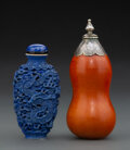 Ceramics & Porcelain, A Chinese Porcelain and a Double Gourd Snuff Bottle