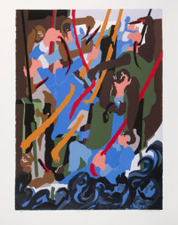 Jacob Lawrence (American, 1917-2000) Revolt on the Amistad, 1989 Serigraph in colors on wove paper 35 x 25-3/4 inches
