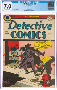 Detective Comics #91 (DC, 1944) CGC FN/VF 7.0 Off-white pages
