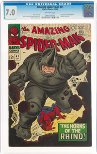 The Amazing Spider-Man #41 (Marvel, 1966) CGC FN/VF 7.0 Off-white pages