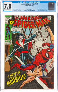 The Amazing Spider-Man #101 (Marvel, 1971) CGC FN/VF 7.0 Off-white to white pages