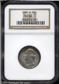 Washington Quarters: , 1932-S 25C MS64 NGC. Well struck and mildly abraded, with ...