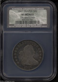 Early Half Dollars: , 1807 50C Draped Bust VF Details, Obverse Scratched, NCS. ...
