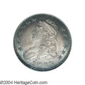 Bust Half Dollars: , 1818/7 50C Small 8 MS62 NGC. O-101, R.1. This overdate ...