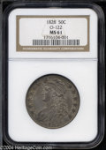 Bust Half Dollars: , 1828 50C Square Base 2, Small 8, Large Letters MS61 NGC. ...