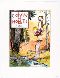 Memorabilia:Comic-Related, Bill Watterson Calvin and Hobbes Signed Limited Edition Lithograph Print #184/1000 (Watterson, 1992)....