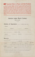 Baseball Collectibles:Others, 1914-15 Ty Cobb Signed Detroit Tigers Player's Contract....