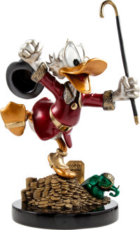 """Carl Barks """"Hands Off My Playthings!"""" Uncle Scrooge Limited Edition Bronze Statue #21/176 (Walt Disney, 1997)..."""