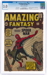Amazing Fantasy #15 (Marvel, 1962) CGC GD/VG 3.0 Slightly brittle pages