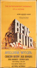 """Movie Posters:Academy Award Winners, Ben-Hur (MGM, 1959). Folded, Fine-. Trimmed Three Sheet (42"""" X 79"""") & Magazine Fold-out Advertisement (17.5"""" X 23"""") DS. Jose... (Total: 2 Items)"""
