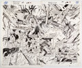 Original Comic Art:Story Page, Ron Garney and Chris Ivy Ghost Rider #47 Double Page Spread 12-13 Original Art (Marvel, 1994).... (Total: 2 Original Art)