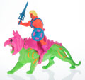 Collectible, MADSAKI X Mattel X Masters of the Universe. He-Man And Battle Cat, 2020. PVC figure. 16-1/2 x 20 x 8 inches (41.9 x 50.8...