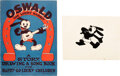 Animation Art:Production Drawing, Walter Lantz Oswald the Lucky Rabbit Drawing with Story and Song Book Group and Cards Group (Walter Lantz/Universa... (Total: 5 Items)