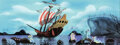 Animation Art:Concept Art, Mary Blair Peter Pan Mermaids and Jolly Roger Pirate Ship Concept Painting (Walt Disney, 1953). ...
