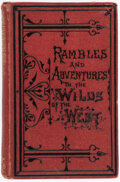 Books:Americana & American History, Catherine C. Hopley. Rambles and Adventures in the Wilds of the West. London: Religious Tract Society, no date [circ...