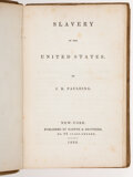 Books:Americana & American History, J[ames] K. Paulding. Two copies of Slavery in the United States. New York: Harper & Bros., 1836. First edition, seco... (Total: 2 Items)