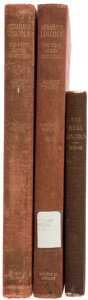 Books:Americana & American History, Albert Shaw; Charles L. C. Minor. Group of Three Books on Abraham Lincoln. New York and Richmond: Various publishers, 1904-1... (Total: 3 Items)