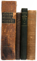 Books:Americana & American History, John Fletcher; et al. Group of Four Books Related to the History of Slavery. Various places: Various publishers, 1852-1938.... (Total: 4 Items)