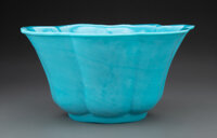 A Large Chinese Peking Glass Bowl, Qing Dynasty, 19th century 5-1/4 x 10 inches (13.3 x 25.4 cm)
