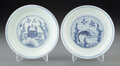 Ceramics & Porcelain, A Pair of Chinese Blue and White Porcelain Dishes