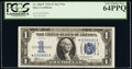 Small Size:Silver Certificates, Fr. 1606* $1 1934 Silver Certificate Star. PCGS Very Choice New 64PPQ.. ...