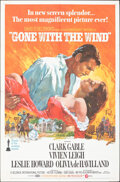 """Movie Posters:Academy Award Winners, Gone with the Wind (MGM, R-1968/R-1961R-1974/). Overall: Fine/Very Fine. One Sheet (27"""" X 41""""), Color Photos (3) (8"""" X 10""""),... (Total: 8 Items)"""