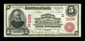 National Bank Notes:Maryland, Baltimore, MD - $5 1902 Red Seal Fr. 587 The National Exchange BankCh. # (E)1109. ...