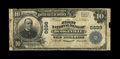 National Bank Notes:Wisconsin, Dodgeville, WI - $10 1902 Plain Back Fr. 624 The First NB Ch. # 6698. ...