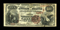 National Bank Notes:Pennsylvania, Patton, PA - $10 1882 Brown Back Fr. 487 The First NB Ch. #(E)4857. ...