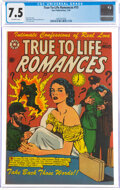 Golden Age (1938-1955):Romance, True-To-Life Romances #15 (Star Publications, 1953) CGC VF- 7.5 Off-white pages....