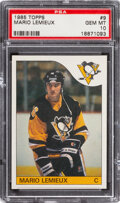 Hockey Cards:Singles (1970-Now), 1985 Topps Mario Lemieux Rookie #9 PSA Gem Mint 10 - None Higher....