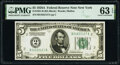 Small Size:Federal Reserve Notes, Fr. 1951-B $5 1928A Federal Reserve Note. PMG Choice Uncirculated 63 EPQ.. ...