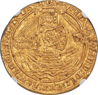 Great Britain: Edward III (1327-1377) gold Noble ND (1363-1369) MS62 NGC