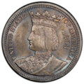 Commemorative Silver, 1893 25C Isabella Quarter MS65 PCGS. PCGS Population: (525/312 and 11/69+). NGC Census: (425/196 and 8/8+). MS65. Mintage 2...