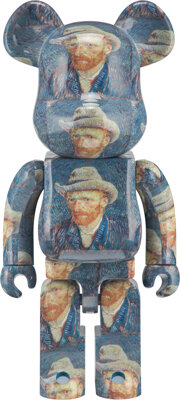 BE@RBRICK X Van Gogh Museum Self-Portrait with Grey Felt Hat 1000%, 2020 Painted cast resin 27-1/2 x 14 x 9 inches (6
