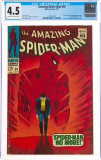 The Amazing Spider-Man #50 (Marvel, 1967) CGC VG+ 4.5 Off-white to white pages