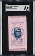 Baseball Cards:Singles (Pre-1930), 1911 S74 Turkey Red Color Silks Frank Baker (Pink) SGC Authentic....